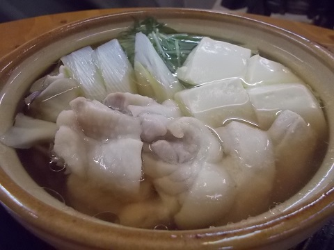 居酒屋の鶏鍋