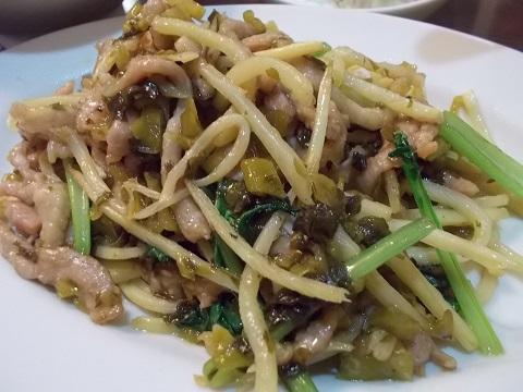豚と高菜の炒め物