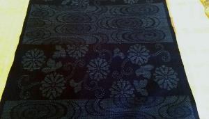 薩摩絣 正藍染 アップ