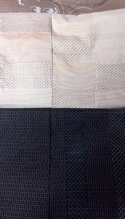 汕頭刺繍 白黒