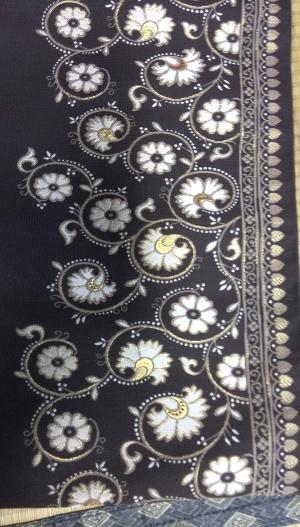 チャコールグレー袋帯