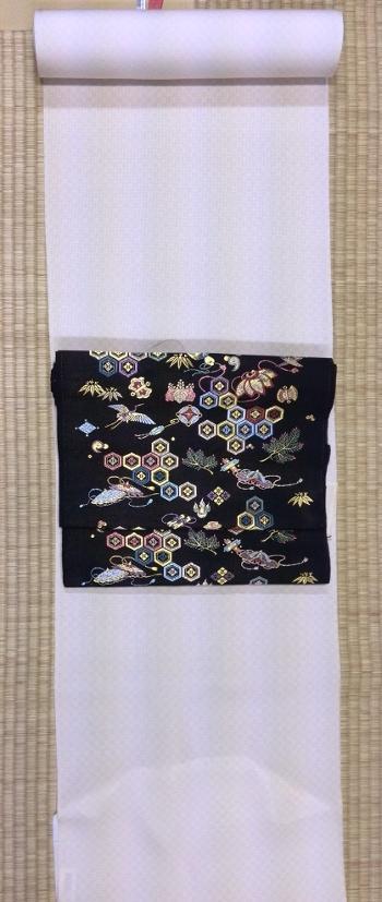 江戸小紋(市松)と名古屋帯