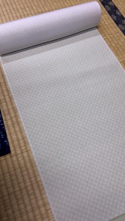 江戸小紋(市松)緑