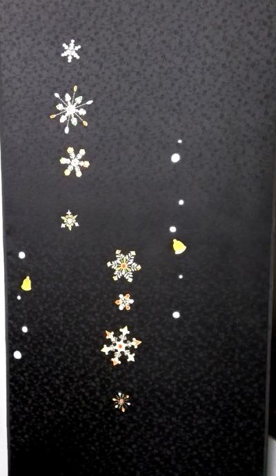 正絹着物 雪の結晶アップ