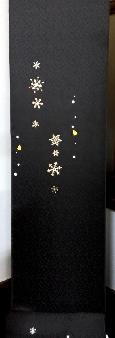 正絹着物雪の結晶