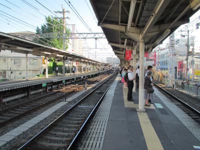 淡路駅ホーム