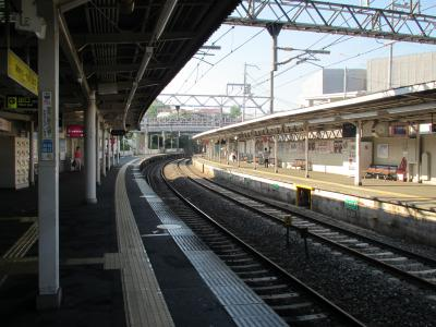 千里山駅ホーム