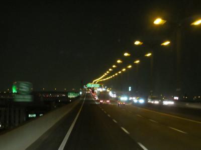 阪神高速湾岸線の夜