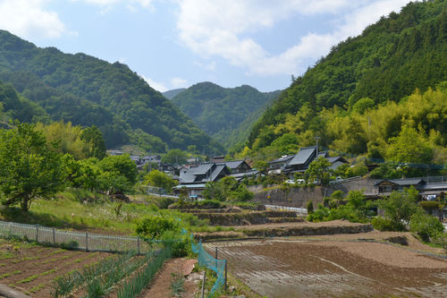 米作り体験の行われた集落の風景53