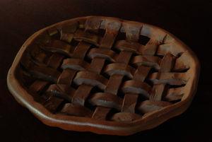 焼き〆紐編み皿3