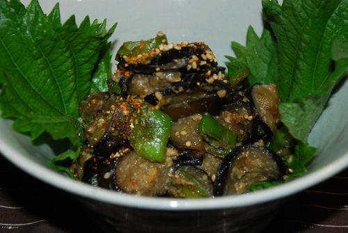 茄子と伏見唐辛子の鉄火味噌2