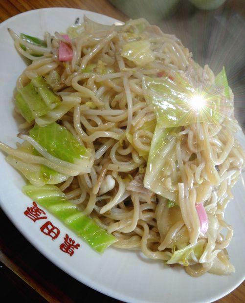 『黒田屋の博多チャンポン』皿うどん・大盛(アップ)