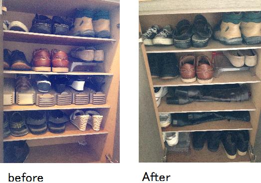 2013 靴箱 衣替え