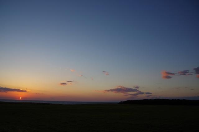 夕日、きれいね