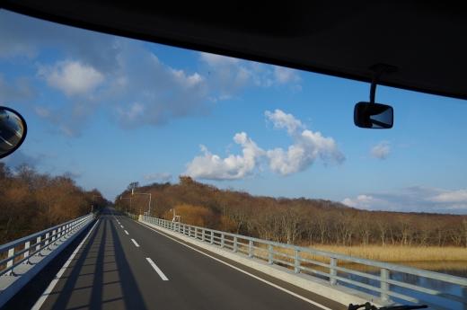 秋深し羅臼行きの車窓