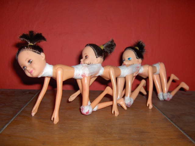 HPIM1990Human Centipede Doll Music House