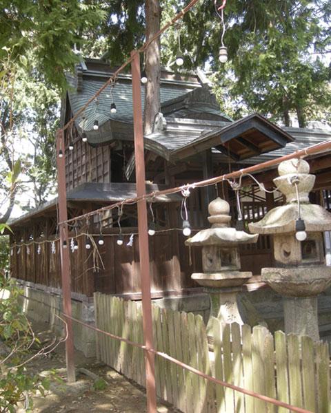 三島鴨神社の天皇一族等の提灯チン杉判子