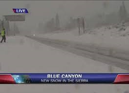 First Snow Storm Knocks Out Power In Sierra
