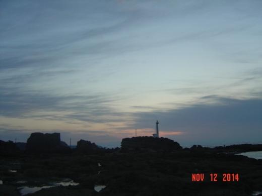 2灯台側の朝焼け
