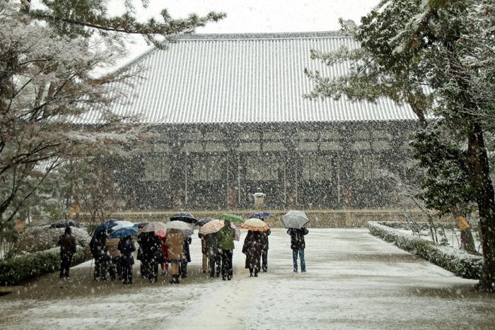 110214雪の唐招提寺