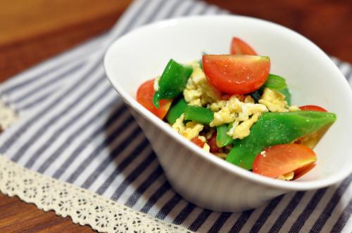 モロッコインゲンと卵とミニトマトのじんわり生姜サラダ