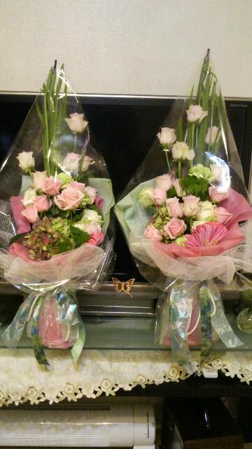 5月ブライダル 両親への 花