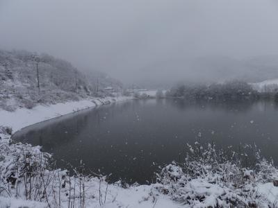 雪景色・大池