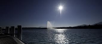 ジュネーブの湖の景色