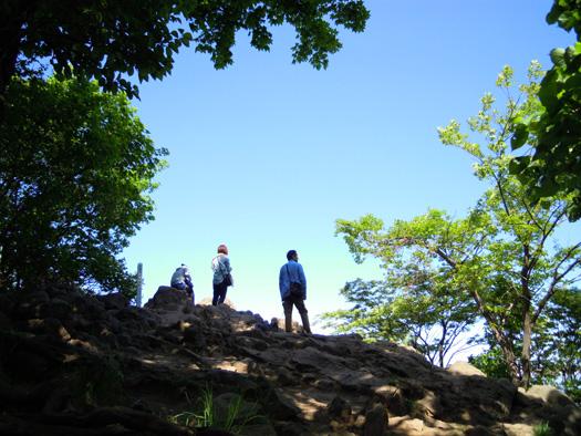 円山の頂上。
