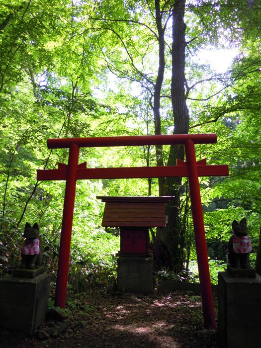 円山の登山口近くの鳥居。