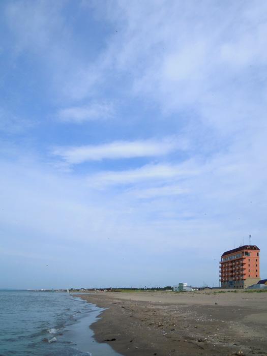 銭函海水浴場。