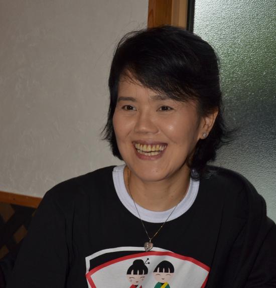 中平マリコさん 4年連続来島 差木地の SPEYーCASTで