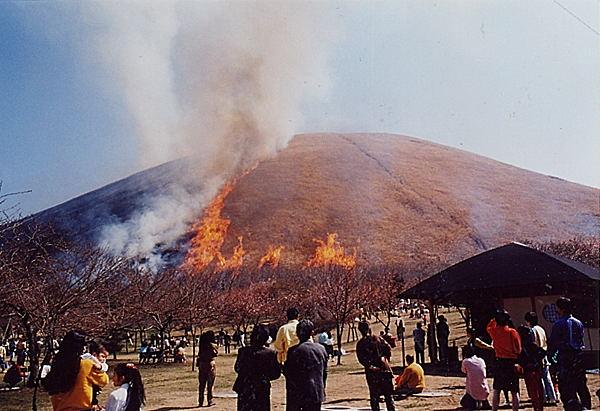 大室山全山焼き 2月の第二日曜日 伊東観光協会提供