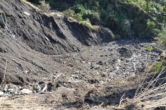 土砂災害危険箇所図でも元町の土石流危険箇所は広範に及ぶ