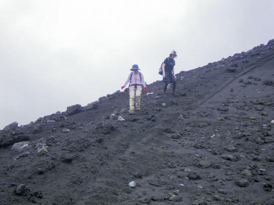 これから割れ目噴火口 B1 B2火口へ