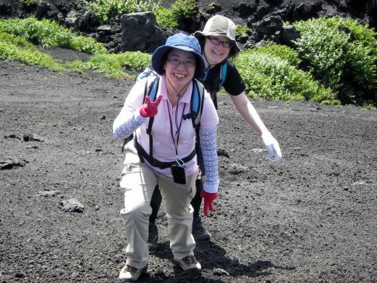 いま「櫛形山」を直登しているところです