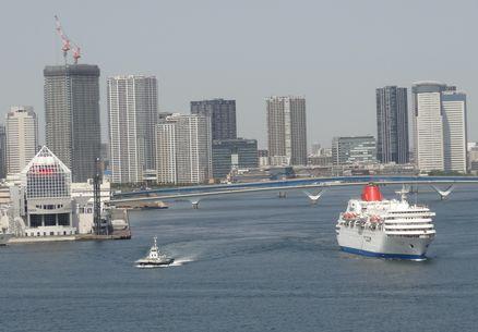大型船の出航