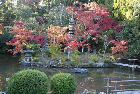 清凉寺の庭園