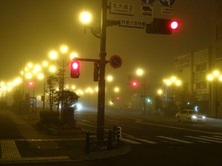街を包む霧