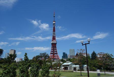 晴れた日のタワー