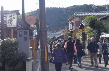 嵯峨野を歩く