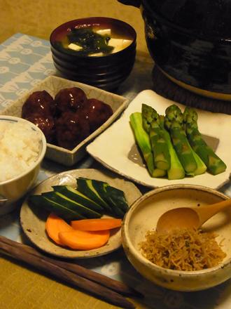 5黒酢肉団子定食