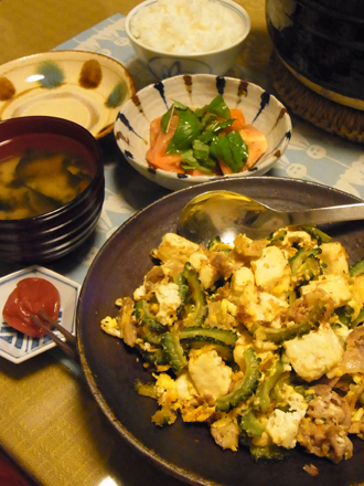4ゴーヤチャンプルー定食