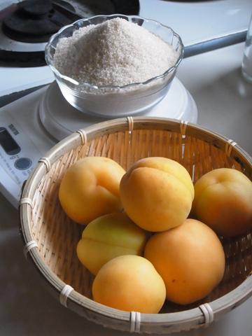 杏ジャム材料