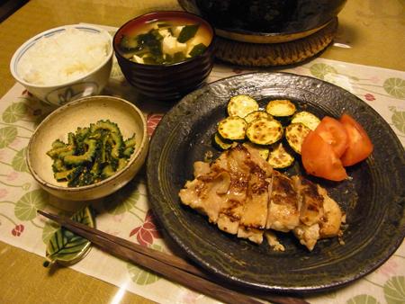 2鶏モモ塩麹漬焼き定食