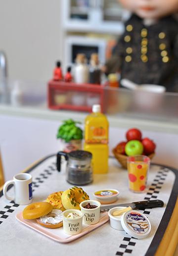 ベーグルでオサレ朝ごはん。