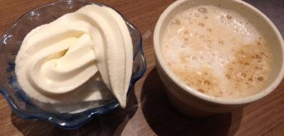 ソフトクリーム+珈琲