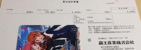 9986 蔵王産業 配当金