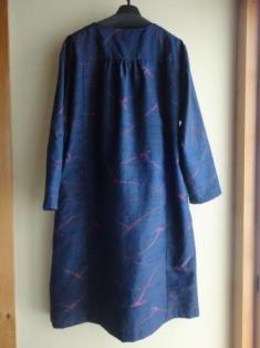 紺手織紬コート&スカーフー2
