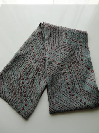 膨れ織スカーフ1